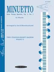 Minuetto from String Quartet, Opus 1, No. 1