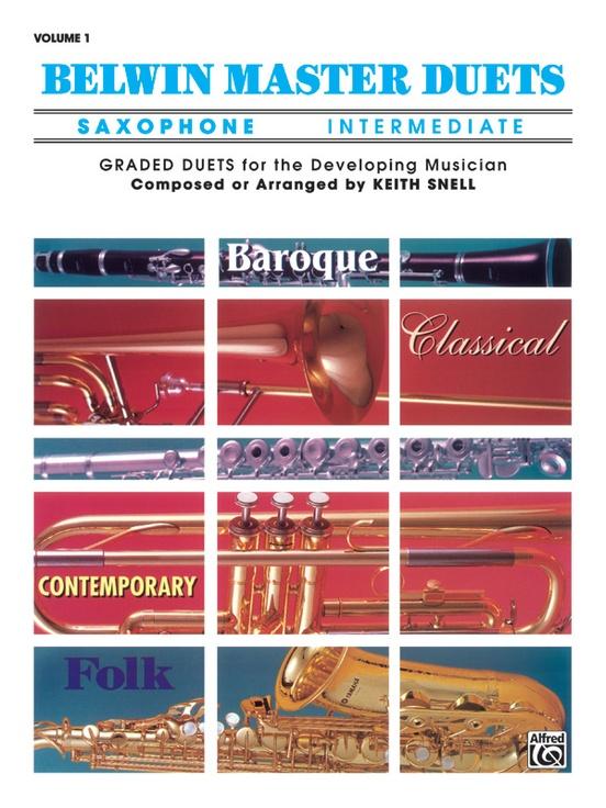Belwin Master Duets (Saxophone), Intermediate Volume 1