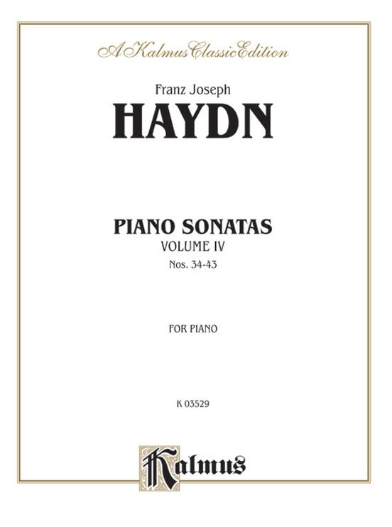 Sonatas, Volume IV (Nos. 34-43)