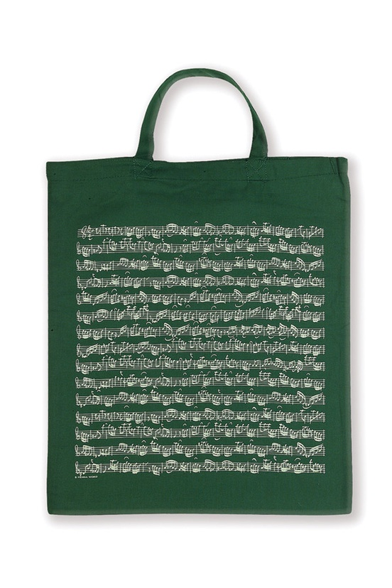 Tote Bag: Sheet Music (Green)