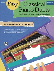 Easy Classical Piano Duets for Teacher and Student, Book 3
