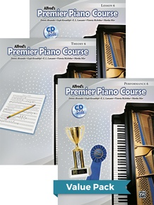 Premier Piano Course, Lesson, Theory & Performance 6 2012 (Value Pack)