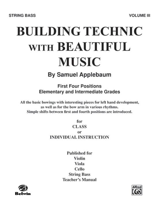 Building Technic With Beautiful Music, Book III