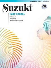 Suzuki Harp School Harp Part & CD, Volume 4