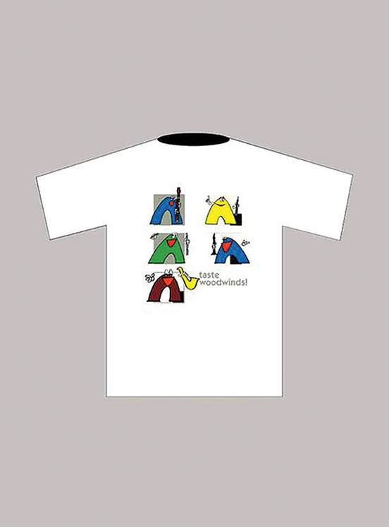 Taste Woodwinds! T-Shirt: White (Large)
