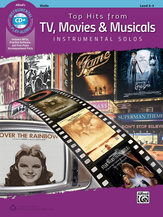Top Hits from TV, Movies & Musicals Instrumental Solos for Strings