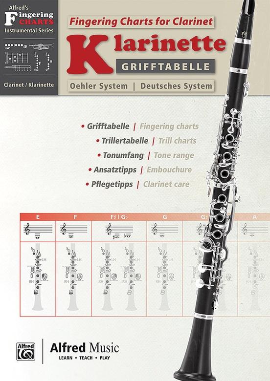 Grifftabelle für Klarinette Deutsches System [Fingering Charts for Clarinet -- Oehler System]