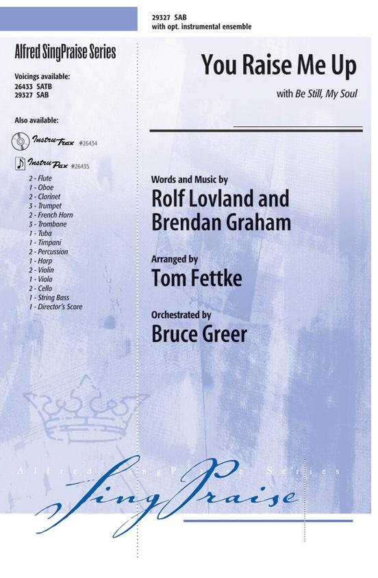 You Raise Me Up Sab Choral Octavo Rolf Lovland