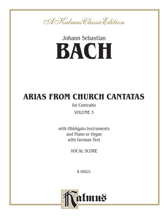 Arias from Church Cantatas, Volume III (6 Sacred)