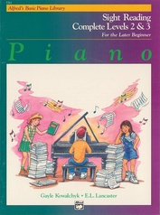 Alfred's Basic Piano Library: Sight Reading Book Complete Level 2 & 3