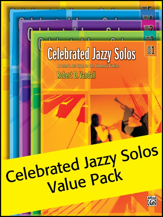 Celebrated Jazzy Solos 1-5 (Value Pack)