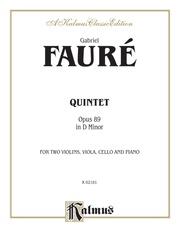 Quintet in D Minor, Opus 89