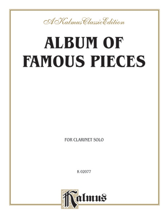 Album of Famous Pieces for Clarinet