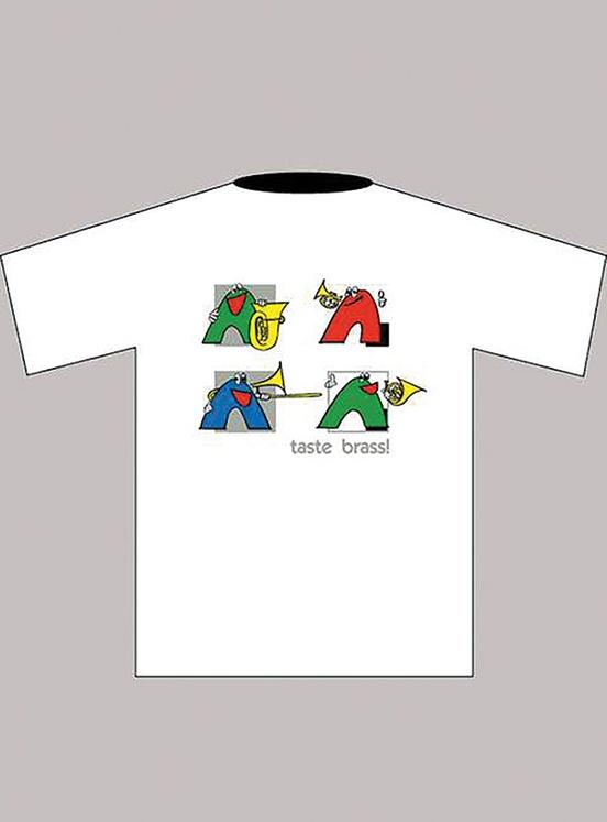 Taste Brass! T-Shirt: White (Children's Large)
