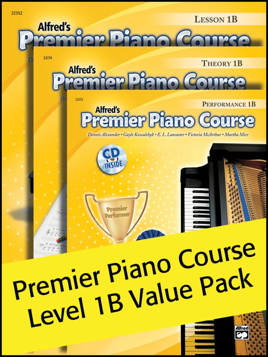 Premier Piano Course, Lesson, Theory & Performance 1B (Value Pack)