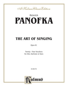 The Art of Singing; 24 Vocalises, Opus 81