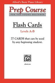 Alfred's Basic Piano Prep Course: Flash Cards, Levels A & B