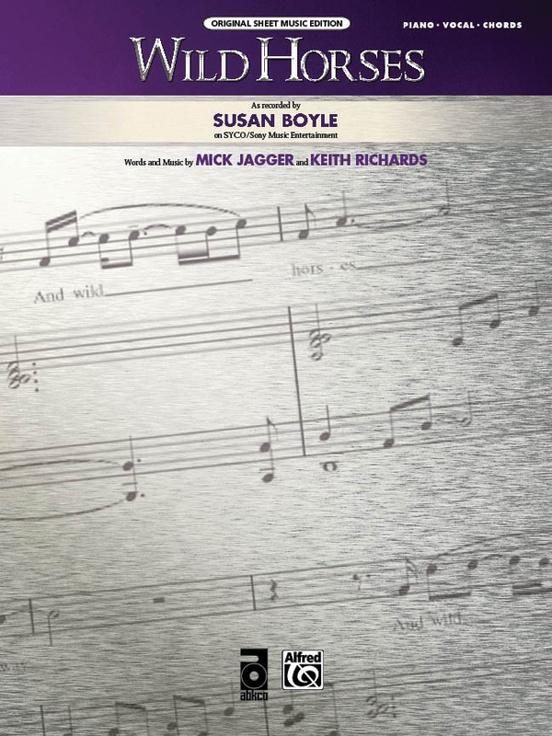 Wild Horses Pianovocalchords Sheet Susan Boyle