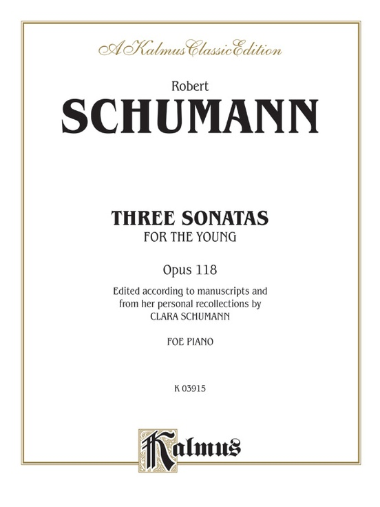 Three Sonatas for the Young, Opus 118
