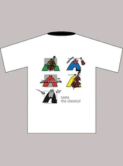 Taste the Classics! T-Shirt: White (Children's Large)