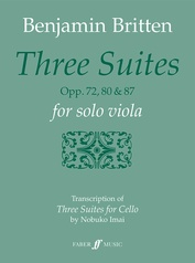 Three Suites, Opp. 72, 80 & 87 for Solo Viola