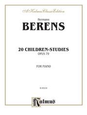 20 Children's Studies, Opus 79