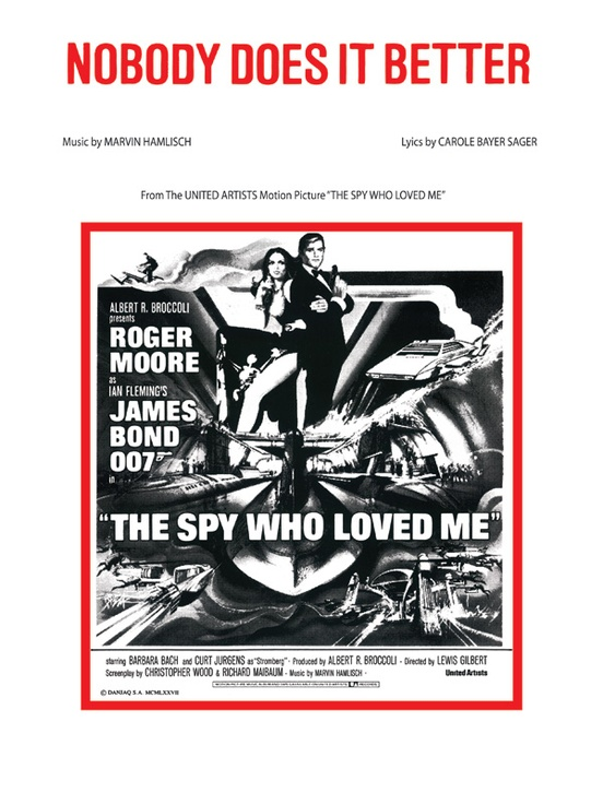 Nobody Does It Better From The Spy Who Loved Me Pianovocal