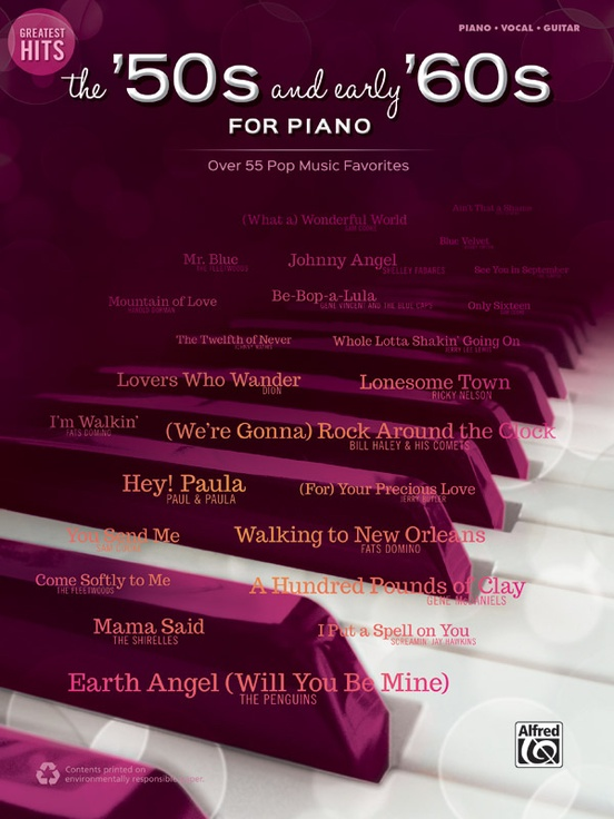 Greatest Hits: The '50s and Early '60s for Piano