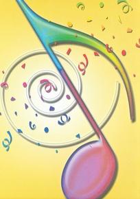 Schaum Recital Programs (Blank) #64: Confetti Note