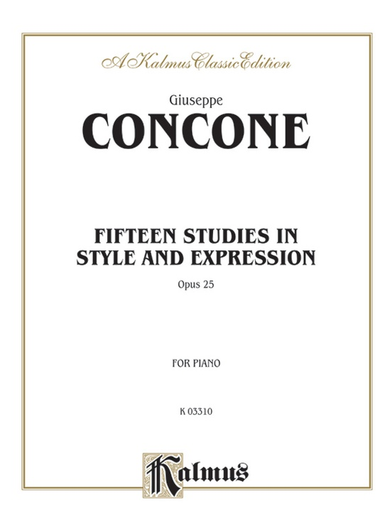 Fifteen Studies in Style and Expression, Opus 25