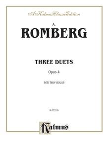 Three Duets, Opus 4