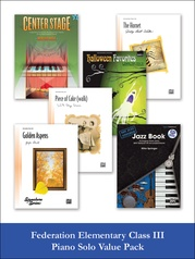 Federation Elementary Class III Piano Solo (Value Pack)