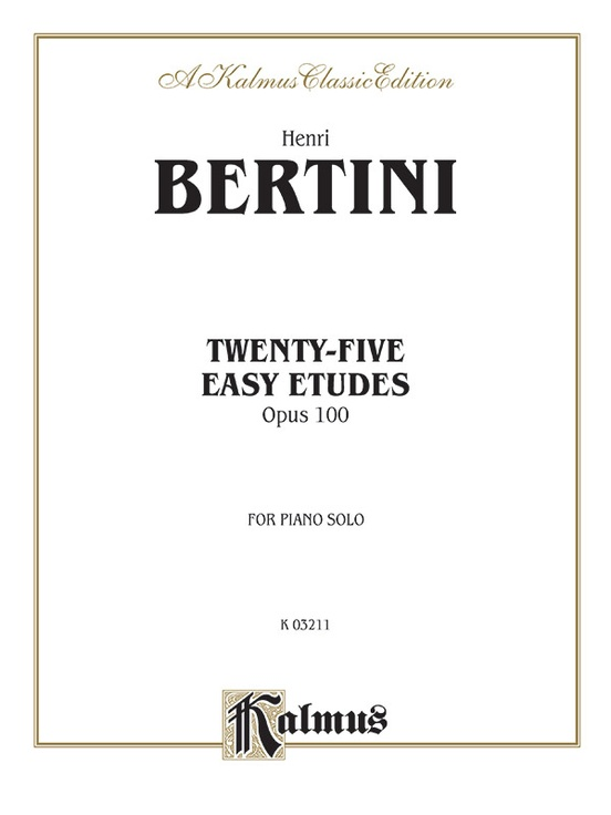 Twenty-five Easy Studies, Opus 100