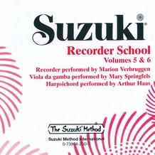 Suzuki Recorder School (Soprano and Alto Recorder) CD, Volume 5 & 6