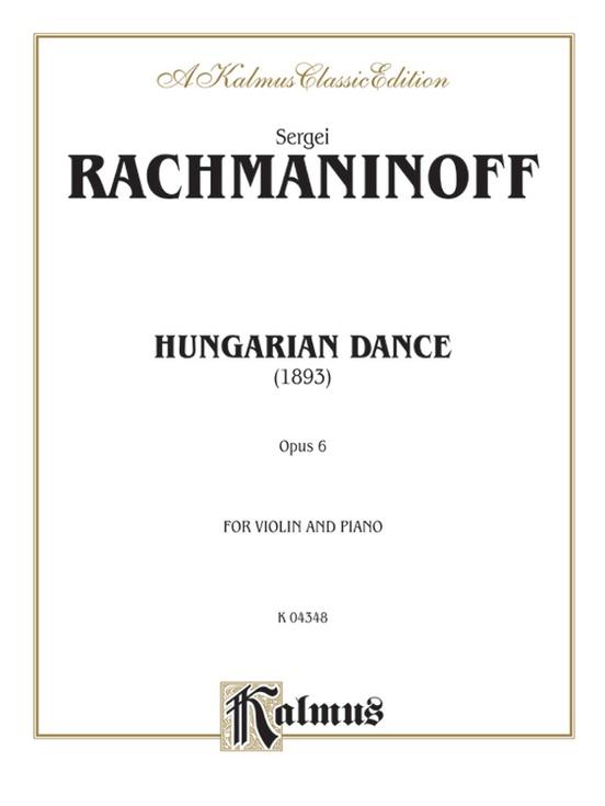 Hungarian Dance (Urtext)