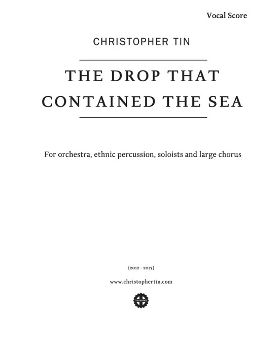 The Drop That Contained the Sea: SATB Choral Vocal Score ...