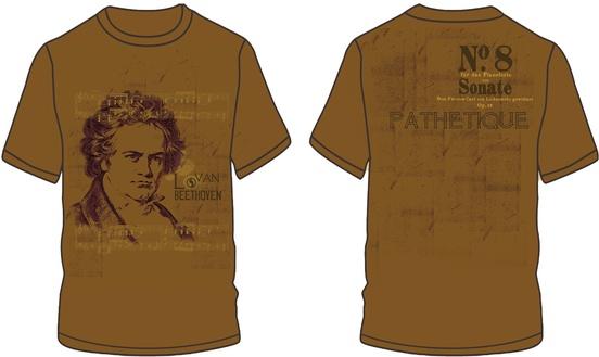 Beethoven Sonate No. 8 T-Shirt (Extra Large)