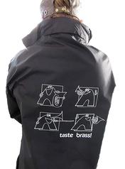 Taste Brass! Raincoat: Black (Large)