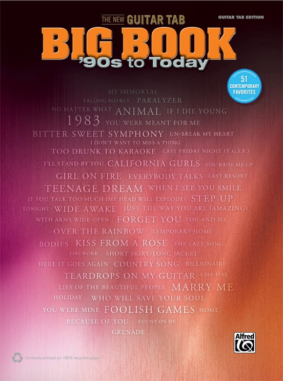 The New Guitar TAB Big Book: \'90s to Today: Guitar TAB Edition Book