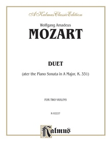Duet (after the Piano Sonata in A Major, K. 331)