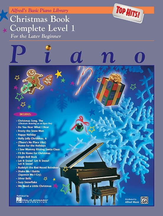 Alfred's Basic Piano Library: Top Hits! Christmas Book Complete 1 (1A/1B)