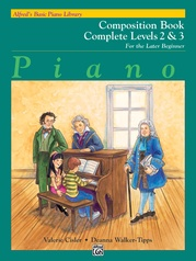 Alfred's Basic Piano Library: Composition Book Complete 2 & 3
