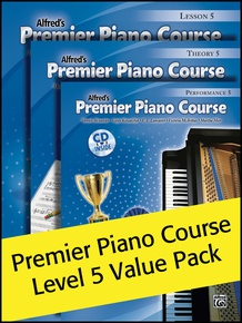 Premier Piano Course, Lesson, Theory & Performance 5 (Value Pack)