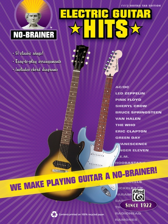 No-Brainer: Electric Guitar Hits: Easy Guitar TAB Book