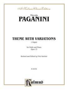 Theme with Variations, Opus 13