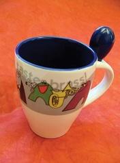 Taste Brass! Coffee Mug (White/Blue)