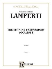 Twenty-Nine Preparatory Vocalises