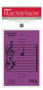 Alfred's Music Note Teacher: All-In-One Flashcard (Purple)