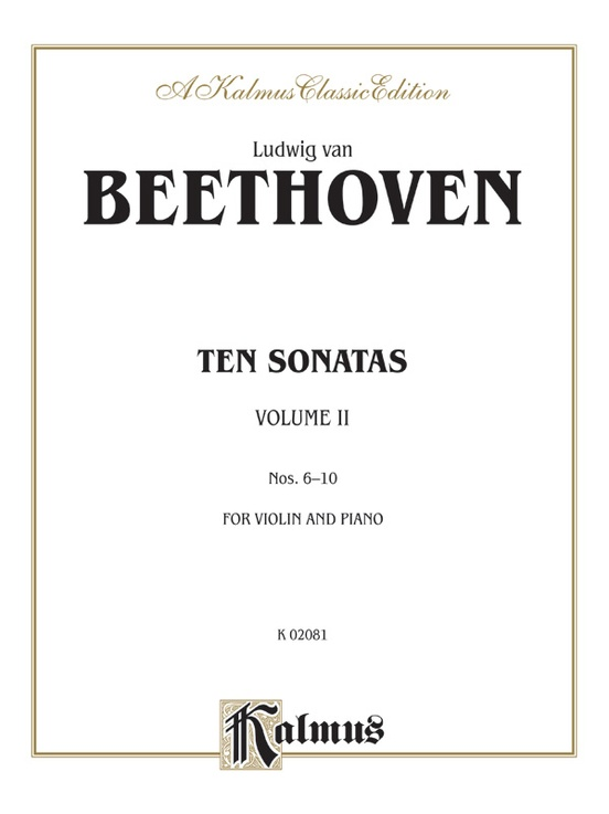 Ten Violin Sonatas, Volume II (Nos. 6-10)