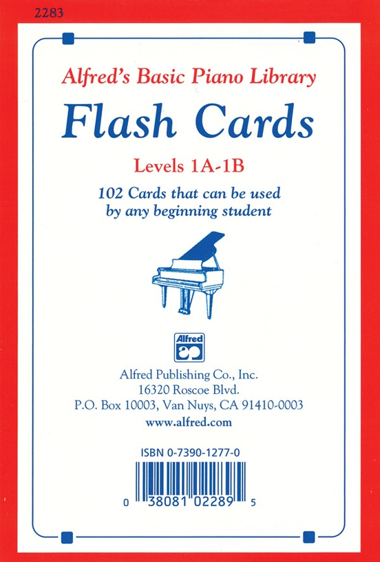 Alfred's Basic Piano Library: Flash Cards, Levels 1A & 1B